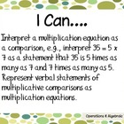 "4th Grade Math Common Core ""I Can"" Statements"