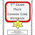 4th Grade Math Common Core Unit 1 Notebook