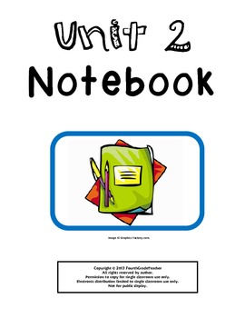4th Grade Math Common Core Unit 2 Notebook
