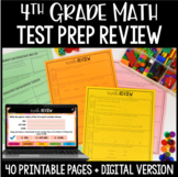 4th Grade Math Common Core Weekly Daily Review Warm Ups *B