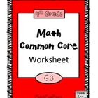 4th Grade Math Common Core Worksheet (4.G.3)