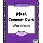 4th Grade Math Common Core Worksheet (4.NF.1)