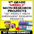 4th Grade Math Enrichment Weekly Research Projects! Easy W