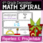 4th Grade Math Spiral for December