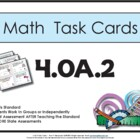 4th Grade Math Task Cards 4.0A.2 Common Core Aligned