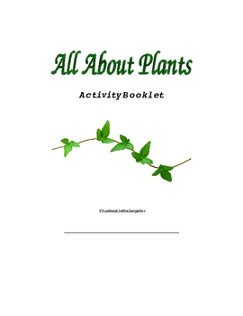 4th Grade Plant Activity Book