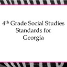4th Grade Social Studies Standards for Posting --Student F