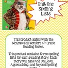 4th Grade McGraw-Hill Wonders Unit 1 Spelling Lists