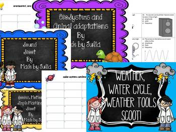 4th grade Science and Social Studies Scoot Bundle- CRCT!