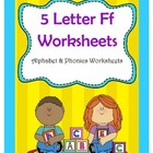 5 Letter F Worksheets / Alphabet & Phonics Worksheets