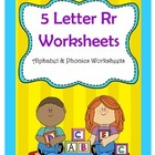 5 Letter R Worksheets / Alphabet & Phonics Worksheets