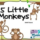5 Little Monkeys SMART Board Activity