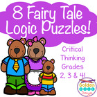 5 Logic Puzzles Fairy Tale Themed - Critical Thinking Skills
