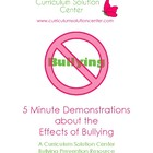 5 Minute Demonstrations about the Effects of Bullying {6 m