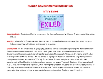 5 Themes of Geography Human Environment