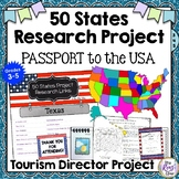 """States Research Project """"Passport to the USA,"""" Web Links,"""