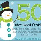 50 Winter Word Problems or Number Stories
