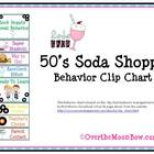 50's Soda Shoppe Behavior Clip Chart