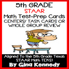 5th GRADE MATH STAAR CLASS REVIEW, CENTERS, TASK CARDS, 10