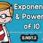 Exponents and Powers of Ten: Math Tasks, Exit Tickets, I C