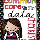 {5th Grade} Common Core Data Checklist - MATH