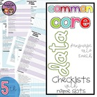 {5th Grade} Common Core Data Checklist - Math and ELA