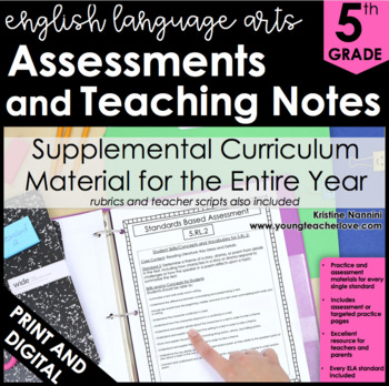 5th Grade Common Core ELA/Literacy Assessments and Teaching Notes *ALL STANDARDS