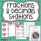 Common Core Fraction and Decimal Stations