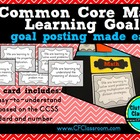 5th Grade Common Core Learning Goals {Posters, Targets, Ob
