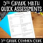 5th Grade Common Core Math Assessments and Data Collection