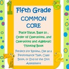 5th Grade Common Core Math Book-place value,exponents,orde