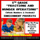 5th Grade Common Core Math FRACTIONS & OPERATIONS Enrichme