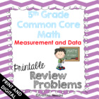 5th Grade Common Core Math Review Problems {Measurement and Data}