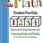 5th Grade Common Core Math Student Portfolio with Learning