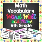 5th Grade Common Core Math Vocabulary