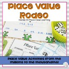 5th Grade Place Value Centers: Rodeo Themed