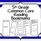 5th Grade Common Core Reading Bookmarks
