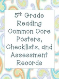 5th Grade Common Core Reading Packet (Stars and Books)