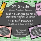 5th Grade Common Core Standards Posters and Checklists (Ch