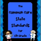 5th Grade - Common Core State Standards