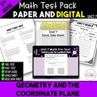 5th Grade Common Core Unit 5 Math Test:  Coordinate Planes