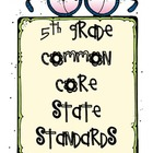 5th Grade Common Core