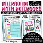 5th Grade Interactive Math Notebook - Measurement & Data a