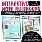 5th Grade Interactive Math Notebook - OA & NBT