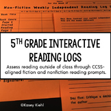 5th Grade Interactive Reading Log: Common Core Aligned