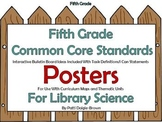 5th Grade Library Sci Common Core Standards References/Pos