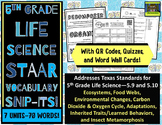 5th Grade Life Science STAAR-Adaptations, Food Webs, Carbo
