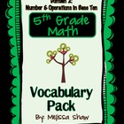 5th Grade Math Common Core Vocabulary Complete Pack *Domain 2*