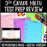 5th Grade Math Common Core Weekly Daily Review Warm Ups *4
