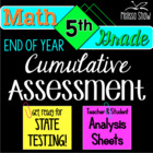 5th Grade Math End of Year Practice State Assessment Pack